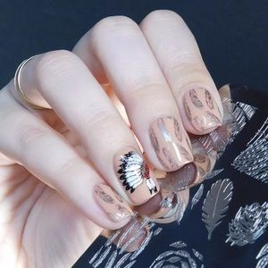 Accessories - Feather Design Print Stencil Nail Art Stamping